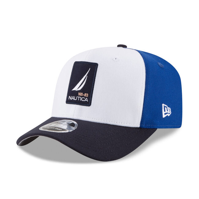 Logo Patch Colorblock Baseball Cap - White & Blue,White,large