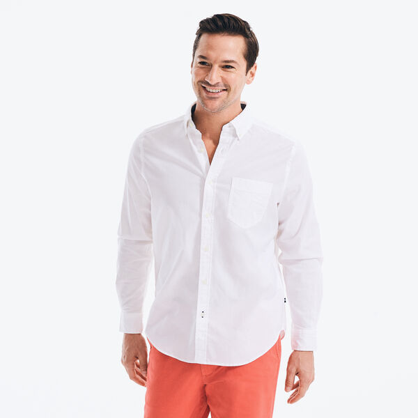 CLASSIC FIT LONG SLEEVE OXFORD SHIRT - Bright White