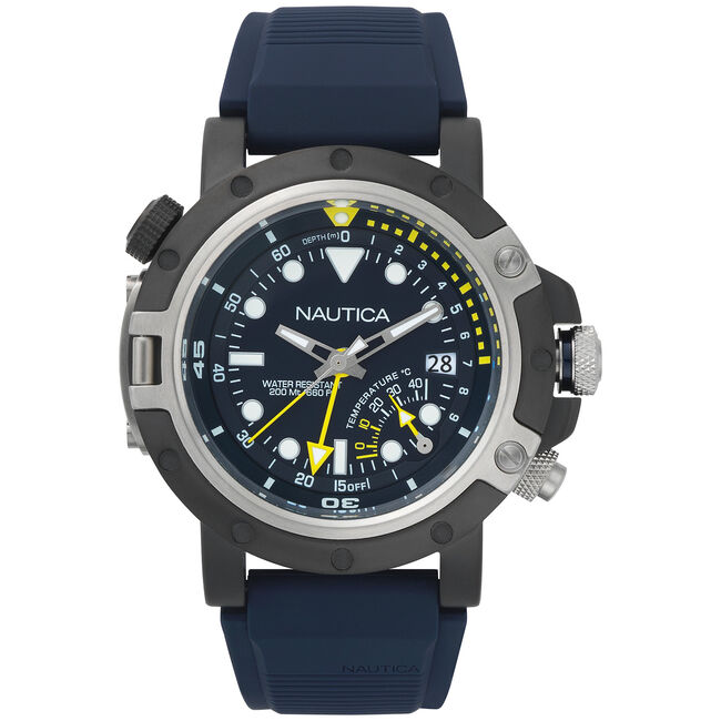 Porthole Dive Watch - Navy,Multi,large