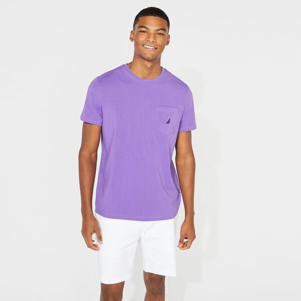 SHORT SLEEVE POCKET TEE - Ocean Violet