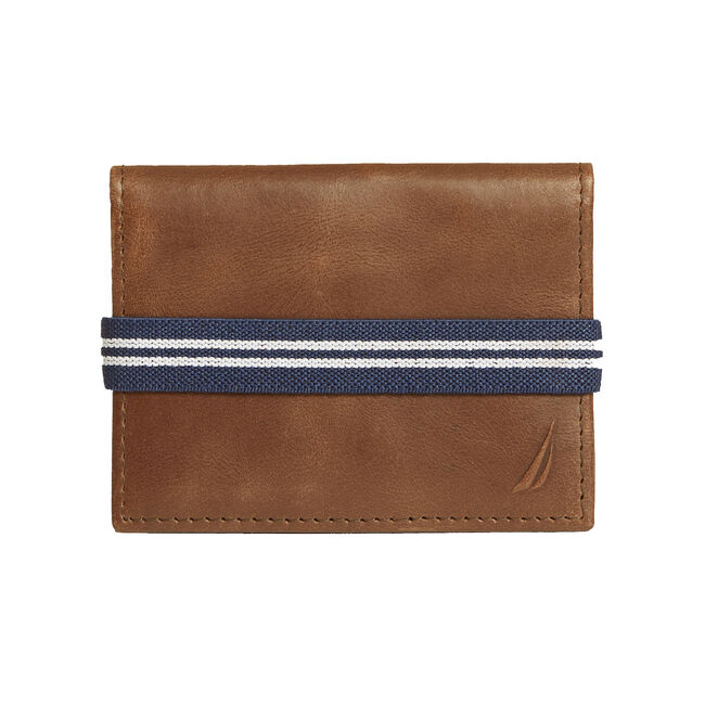 Catharpin Gusset Wallet,Brown Stone,large