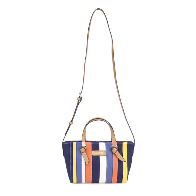 MIXED STRIPE CROSSBODY WITH HANDLES,Ice Blue,large