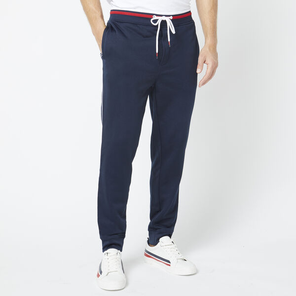 TRACK PANT WITH SIDE TAPE - Pure Dark Pacific Wash