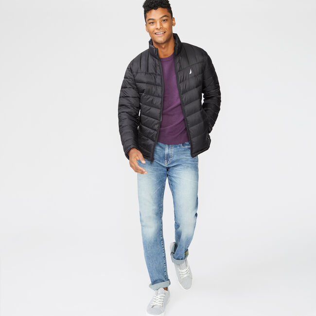QUILTED J-CLASS RIPSTOP JACKET,True Black,large