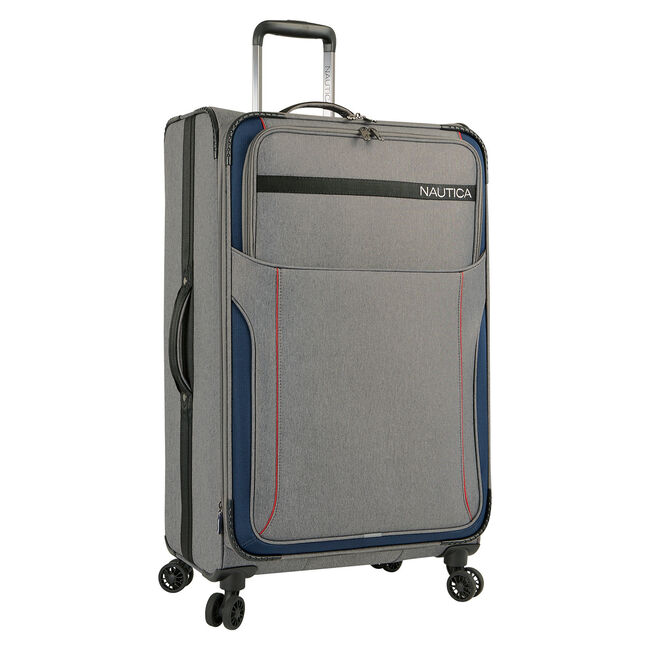"""Naval Yard 28"""" Expandable Spinner Luggage,Charcoal Hthr,large"""