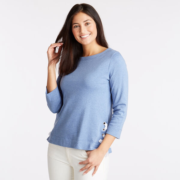 Boatneck Top - Cornflower Blue