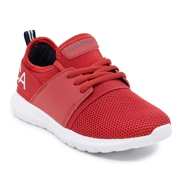 BOYL'S LIGHTWEIGHT EVERYDAY SNEAKER - Nautica Red/Orange