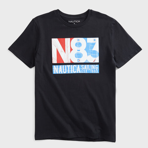 N-83 SAILING GRAPHIC T-SHIRT - True Black