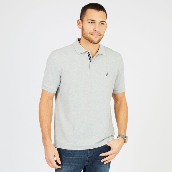 Big & Tall Performance Classic Fit Deck Polo - Grey Heather