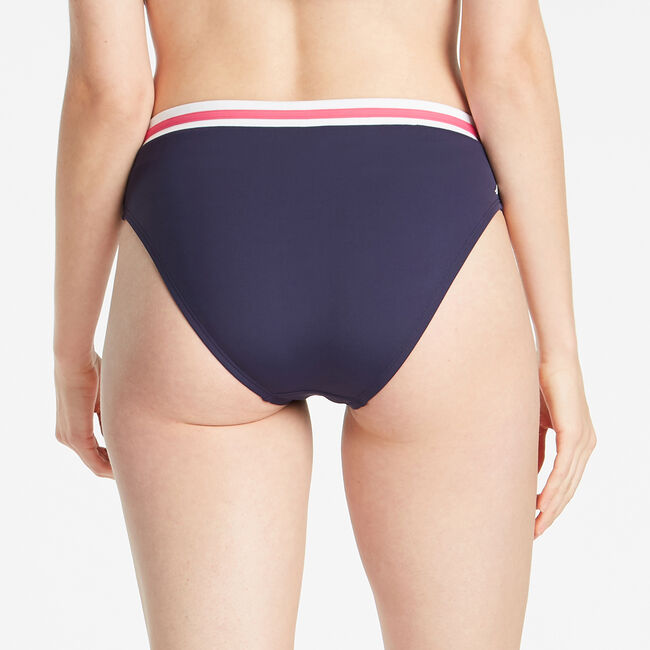 COLORBLOCK BIKINI BOTTOM,Crimson,large