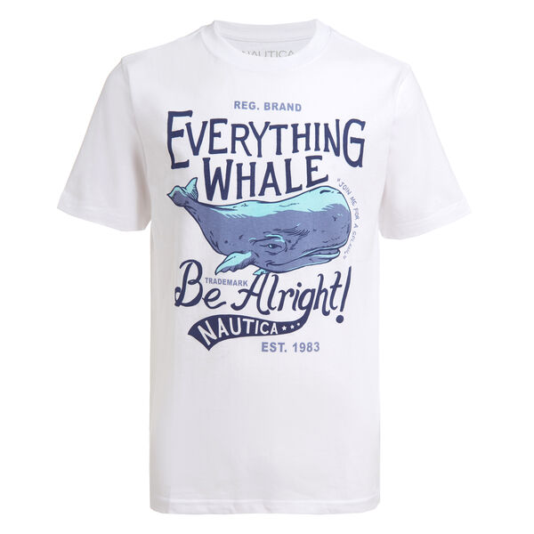 TODDLER BOYS' WHALE GRAPHIC T-SHIRT (2T-4T) - Antique White Wash