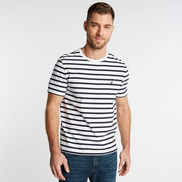 STRIPED J-CLASS T-SHIRT - Bright White
