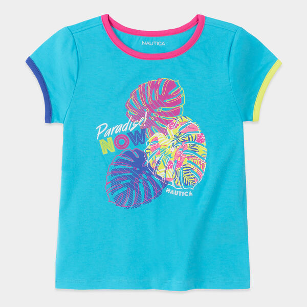 LITTLE GIRLS' PARADISE NOW GRAPHIC T-SHIRT (4-7) - Castaway Aqua
