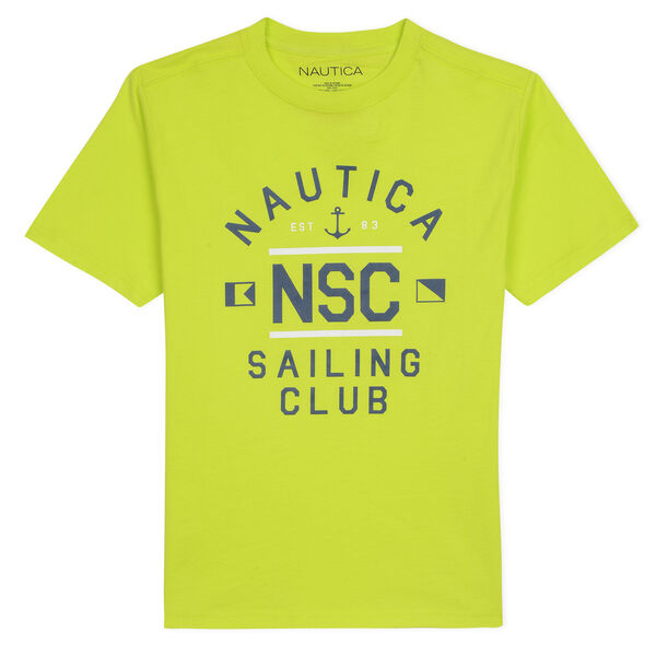 SAILING CLUB GRAPHIC TEE IN LIME PUNCH 2T - 4T - Tillman Bay