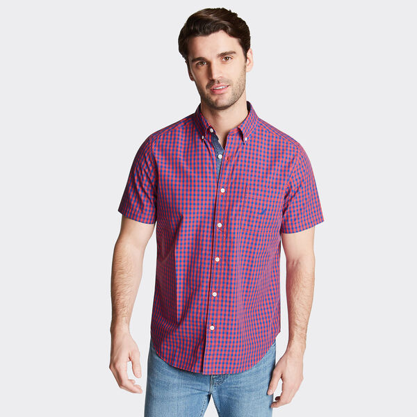 CLASSIC FIT SHORT SLEEVE SHIRT IN SUMMER GINGHAM - Sailor Red