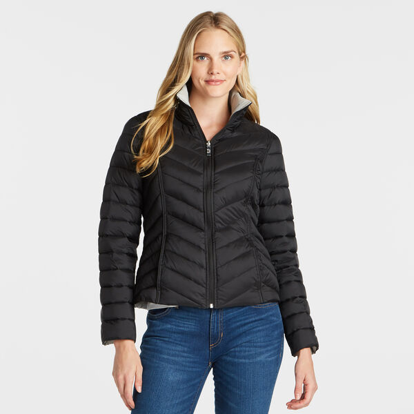 Reversible Packable Puffer Jacket - True Black