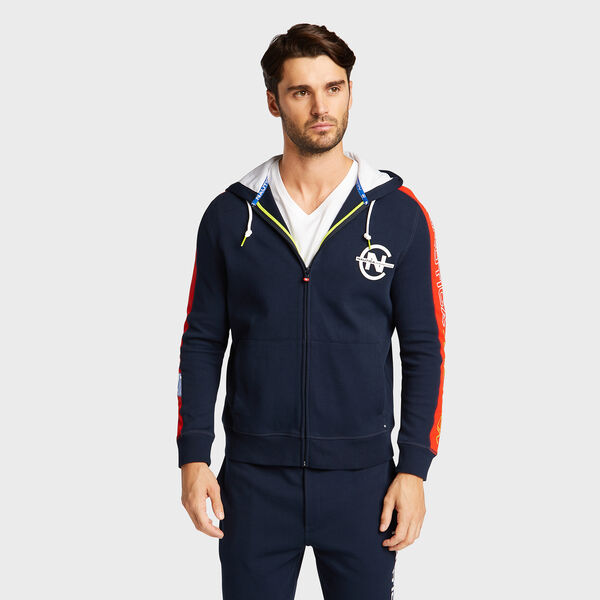 Competition Full Zip Hoodie - Pure Dark Pacific Wash
