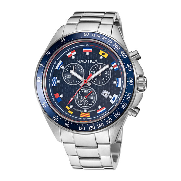 OCEAN BEACH STAINLESS STEEL AND SILICONE WATCH BOX SET - Multi