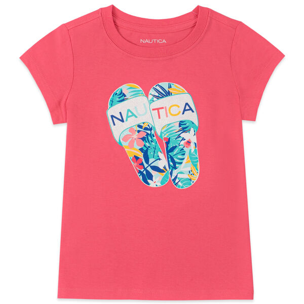 LITTLE GIRLS' FLIP FLOP GRAPHIC T-SHIRT (4-7) - Light Pink