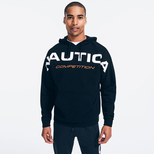 COMPETITION LOGO GRAPHIC PULLOVER HOODIE - True Black