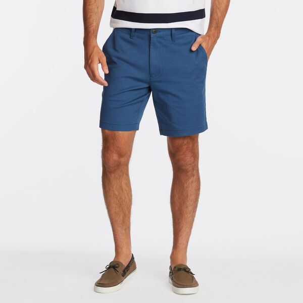 """8.5"""" CLASSIC FIT DECK SHORTS WITH STRETCH - Ensign Blue"""