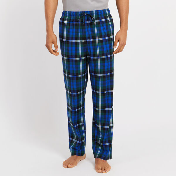 Fleece Plaid Pajama Pants - Cosmic Fern