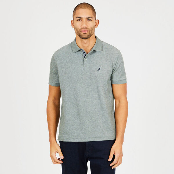 Classic Fit Performance Mesh Polo - Spinner Green