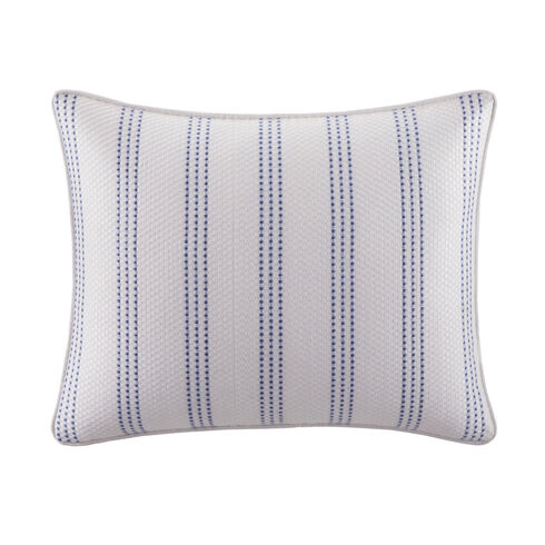 Eldridge Embroidered Stripe Throw Pillow