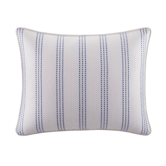 Eldridge Embroidered Stripe Throw Pillow,Ivory,large