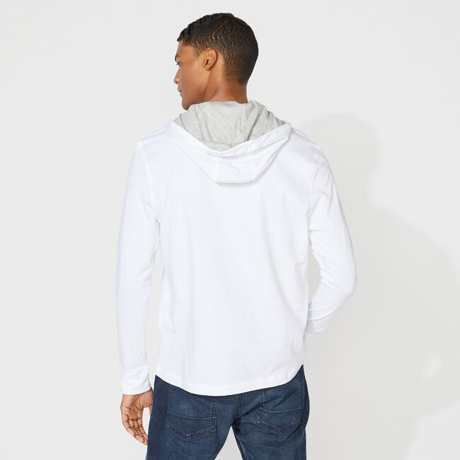 J-CLASS T-SHIRT HOODIE,Bright White,large