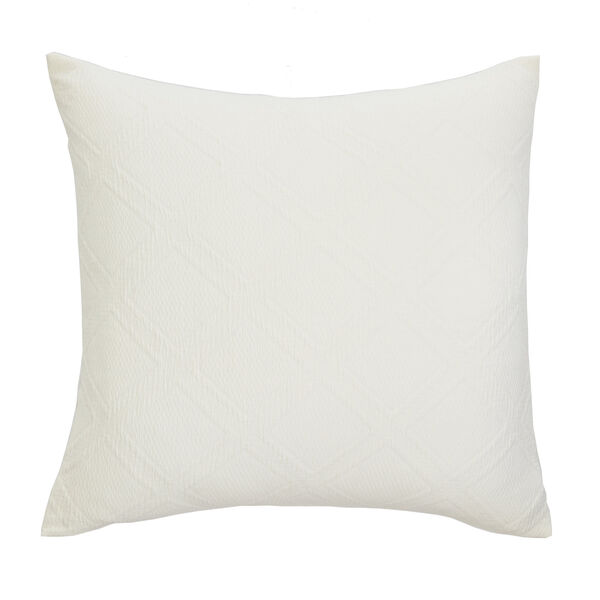 Haverdale Grey Euro Pillow Sham - Bright White