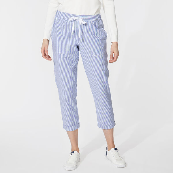 STRIPE CUFFED PANTS - Bright White