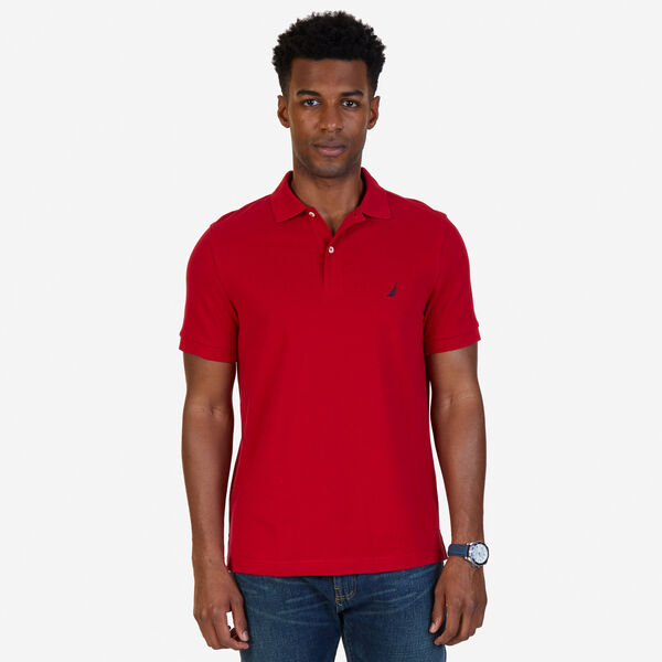 SLIM FIT MESH POLO - Nautica Red