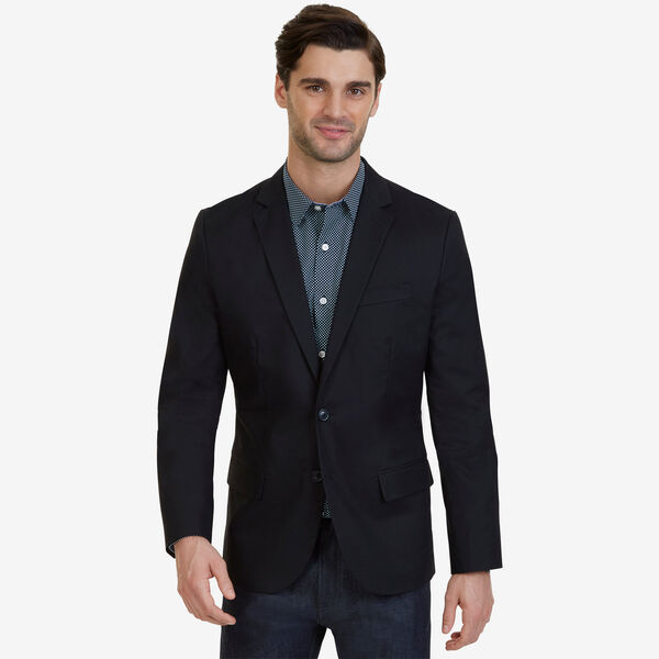 Stretch Twill Blazer - True Black