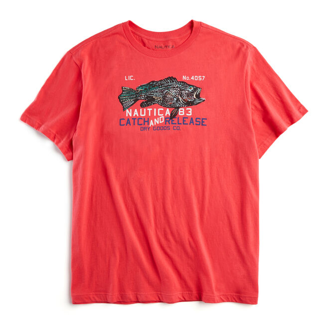 BIG & TALL CATCH & RELEASE GRAPHIC T-SHIRT,Melonberry,large