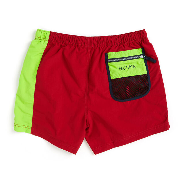 Lil Yachty by Nautica Colorblock Swim Trunks,Nautica Red,large