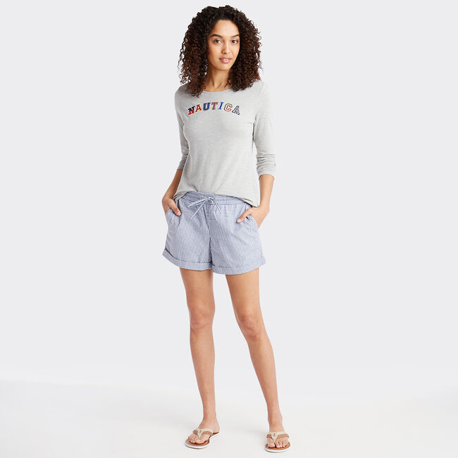 Long Sleeve Jersey Graphic Tee,Grey Heather,large