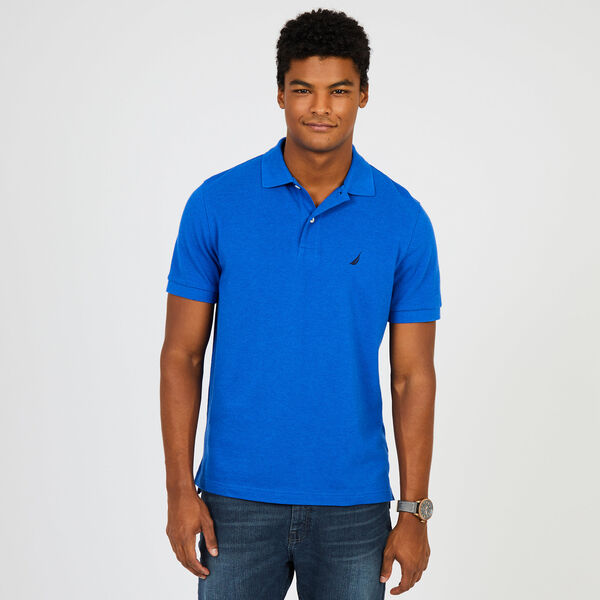 Classic Fit Mesh Polo - Blue