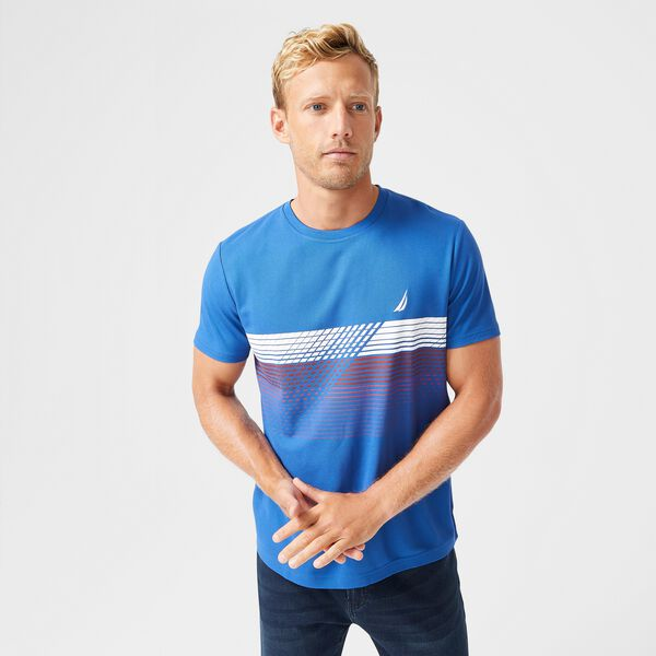 SUSTAINABLY CRAFTED NAVTECH GRAPHIC T-SHIRT - Windsurf Blue