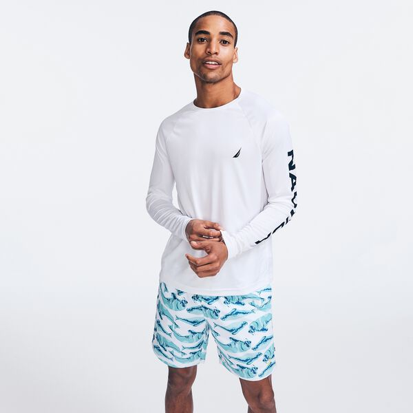 LOGO GRAPHIC SWIM SHIRT - Bright White
