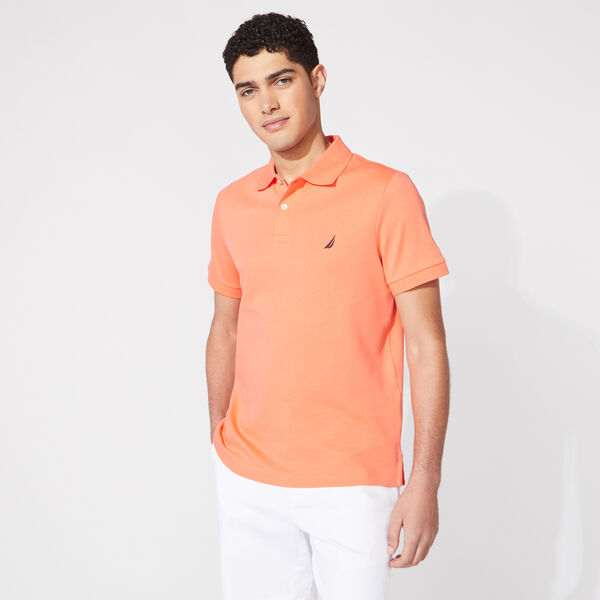 SLIM FIT INTERLOCK POLO - Livng Coral