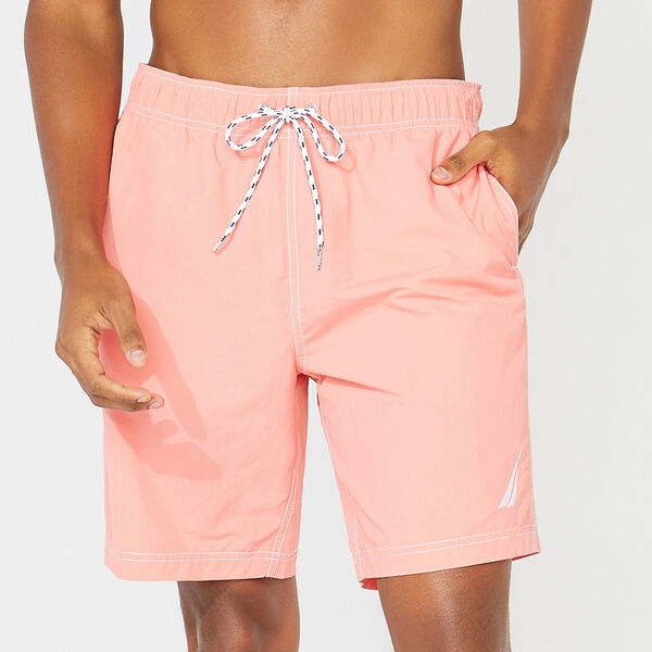 "8"" SOLID SWIM TRUNKS - Pale Coral"