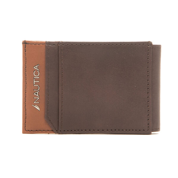 BRENDAN MAGNETIC SLIMFOLD WALLET IN BROWN - Military Tan