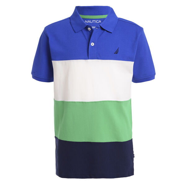 BOY'S PIECED COLORBLOCK DECK SHIRT - Imperial Blue
