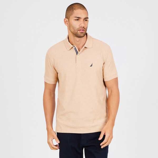 BIG & TALL STRETCH MESH POLO - Matte Dark Tortoise