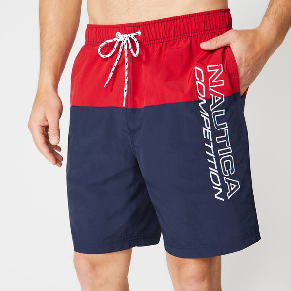 "8"" COMPETITION COLORBLOCK QUICK-DRY SWIM - Nautica Red"