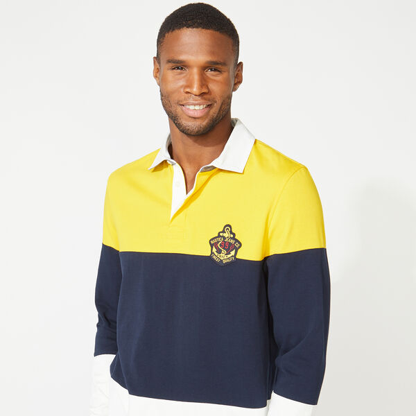 NAUTICA JEANS CO. COLORBLOCK LONG SLEEVE RUGBY - Lemon Chrome