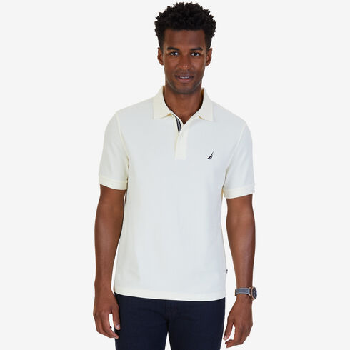 Short Sleeve Classic Fit Performance Deck Polo - Sail Cream