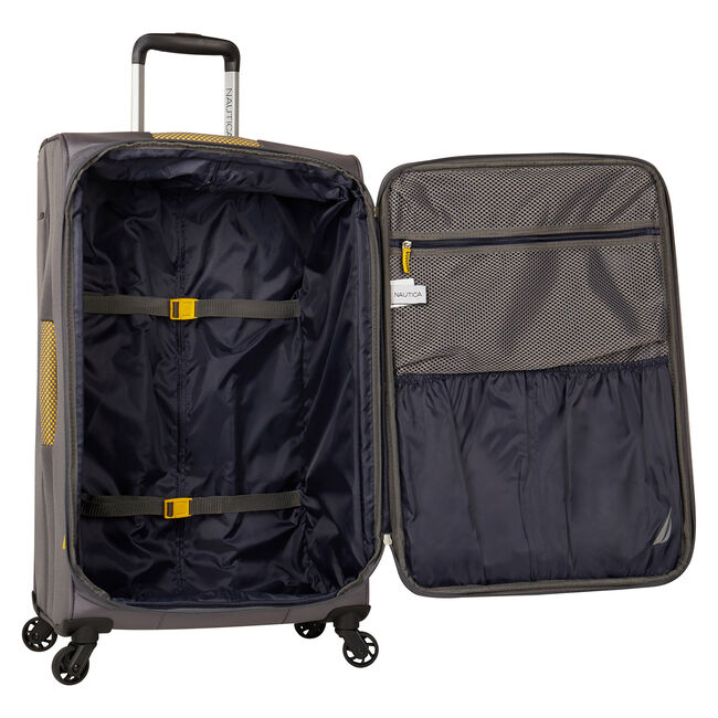 """Brooklyn Bay 21"""" Expandable Spinner Luggage,Grey Heather,large"""