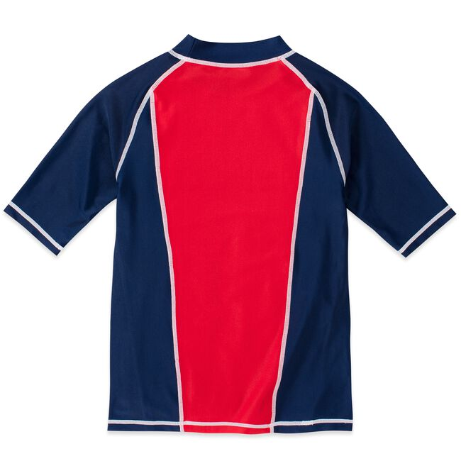 LITTLE BOYS' HARRISON LOGO RASHGUARD (4-7),Melonberry,large